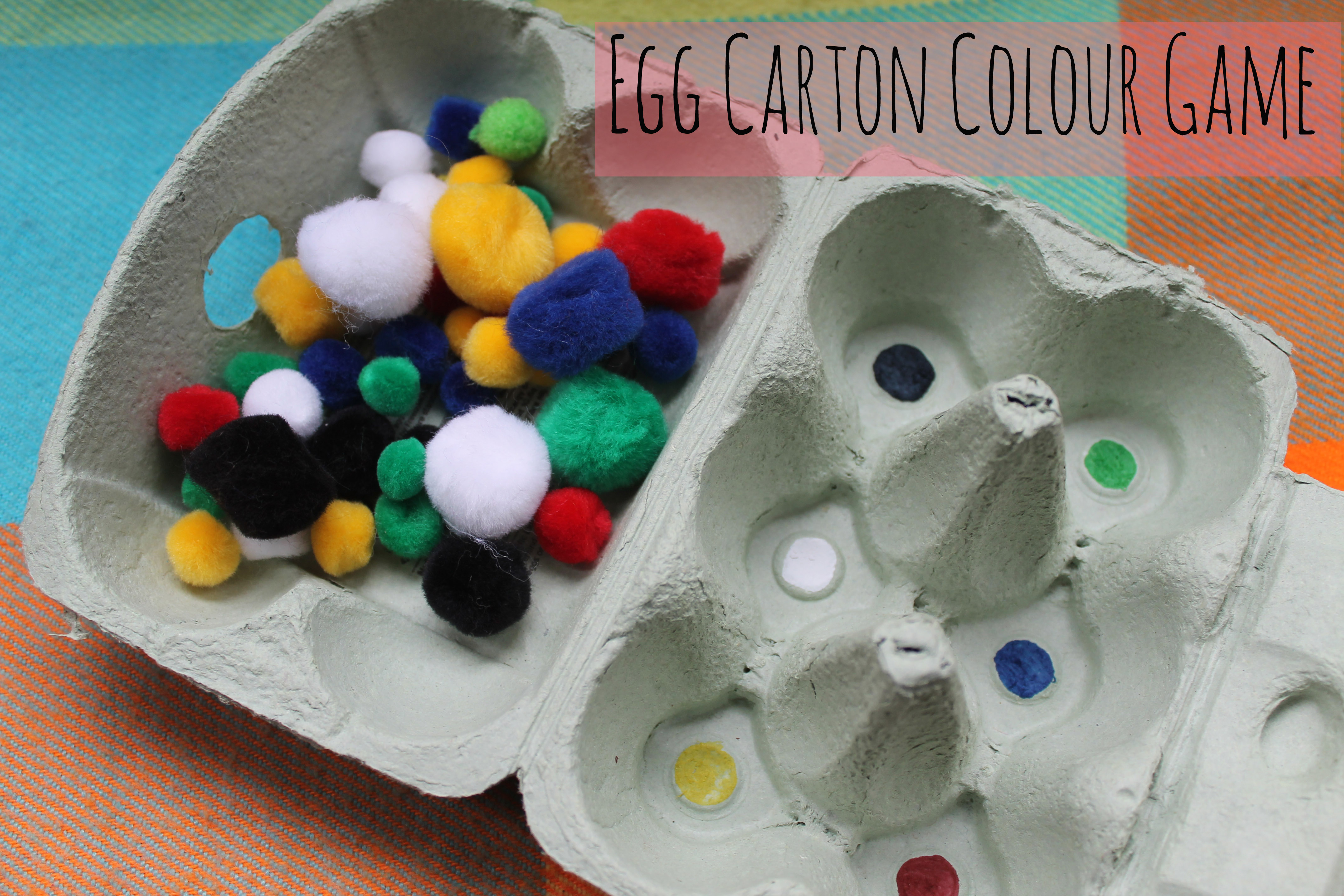 Egg carton counting game city to sticks for Craft box for toddlers